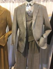Mens Notch Lapel Single Breasted Den Suit
