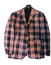 Mens Plaid  Window Pane Blazer