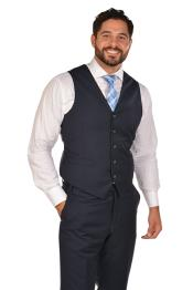 Mens Navy Vest & Tie & Matching Dress Pants