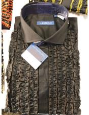 Mens Lay Down Tuxedo Dress Shirt