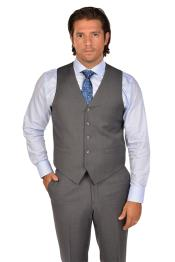 Mens Grey Vest & Tie & Matching Dress Pants