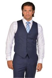 Mens Blue Vest & Tie & Matching Dress Pants