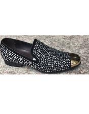 Mens Black Sparkle Loafer Zota Unique Mens Dress Shoes