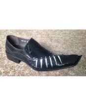 Mens Slip One Black Zota Unique Mens Dress Shoes