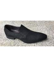 Mens Black Slip On Zota Unique
