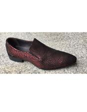 Mens Burgundy Slip On Zota Unique Mens Dress Shoes