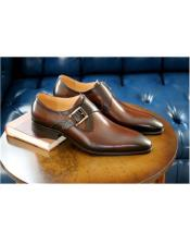 mens Chestnut Wrapped Goldtone Slip On