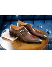 Buckle Closure Cognac Buckle Closure Carrucci shoe