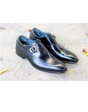 Wingtip Design Slip On Black Carrucci Shoe