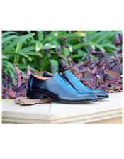 Blue Lace Up Carrucci Shoe