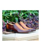 Cognac Lace Up Carrucci Shoe