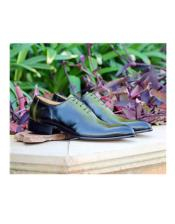 Jade Lace Up Deerskin ~ Calfskin Carrucci Shoe