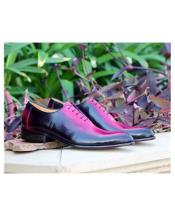 Deerskin ~ Calfskin Lace Up Pink Carrucci Shoe