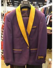 Purple and Gold Tuxedo Vested 3