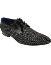 Black Lace Up Zota Unique Mens Dress Shoes