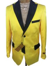 Mens-2-Button-Yellow-Blazer