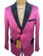 mens Pink ~ FuchsiaTwo Button Blazer