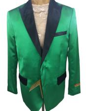 mens Green Single Breasted Two Button