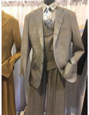 color two button men's suit with notch lapel