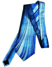 #JA1018 Mens Extra Long Aquamarine Silk Tie