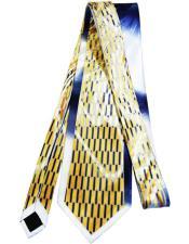 #JA1019 Mens Extra Long Gold Silk Tie