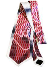 #JA1020 Mens Extra Long Red Silk Tie