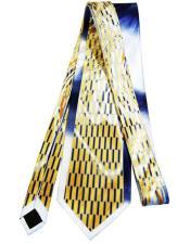 #JA1022 Mens Extra Long Gold Silk Tie