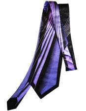 #JA1025 Mens Extra Long Purple Silk Tie