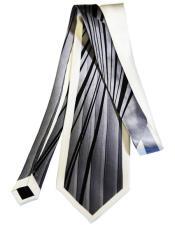 #JA1030 Mens Extra Long Silver Silk Tie