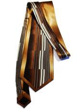 Mens Extra Long Oak Silk Tie