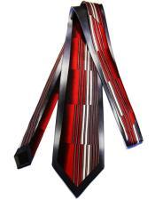 #JA1033 Mens Extra Long Red Silk Tie
