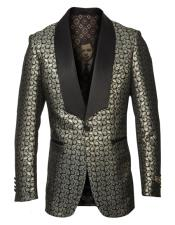 mens Single Breasted Shawl Lapel Fancy