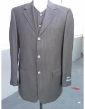 Buttons 100% Wool Suit Pleated Pants Three Buttons Style