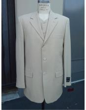 Three Buttons 100% Wool Suit Pleated