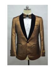 Burnt Orange mens Fashion Blazer +