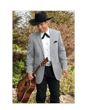 Gray Western ~ Cowboy Two Button Tuxedos