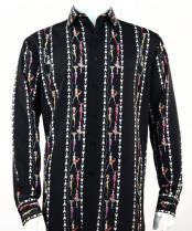 Fashion Full Cut Long Sleeve Black Shirt