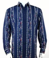 Fashion Full Cut Long Sleeve Blue Shirt