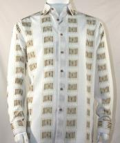 Fashion Full Cut Long Sleeve Navy Squares Stripe White