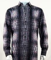 Full Cut Long Sleeve Fashion Black Shirt