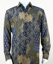 Full Cut Long Sleeve Olive Fashion Shirt