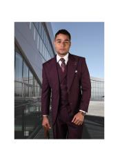 Brand Mens REGULAR FIT PLEATED PANTS ITALIAN Wool FABRIC