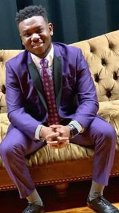 Mens Single Breasted Shawl Lapel Violet