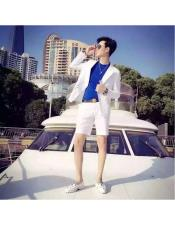 Mens  Summer Business Suits With Shorts Pants Set