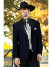 Navy Blue Single Breasted One Button Suit