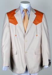 Mens Western Cowboy Suit Traje Vaquero Polyester Suit Set