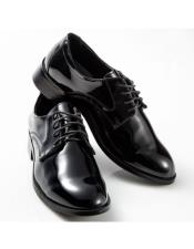 mens Black Round Toe Firm Stitched