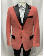 Single Breasted Slim Fit Dusty Pink Blazer