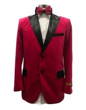 Red Suit For Men Perfect For Prom Two Button