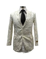 mens White Fancy Party Peak Label